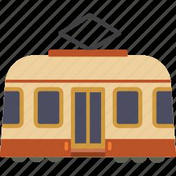 rail, streetcar, tram, transport, trolley icon