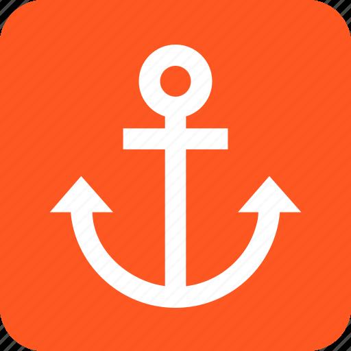 anchor, cruise, dock, port, sailing, ship, travel icon