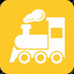 locomotive, rail, railway, train, transport, travel, vehicle icon