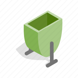bin, container, garbage, isometric, lid, street, trash icon