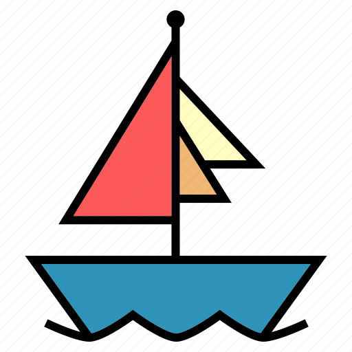 boat, cruise, delivery, public, sail, transport, vehical icon