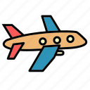 aircraft, airplane, delivery, plane, public, transport, vehical icon
