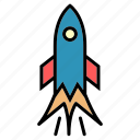 delivery, missile, public, rocket, sky, transport, vehical icon