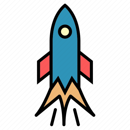 delivery, missile, public, rocket, sky, transport, vehical icon