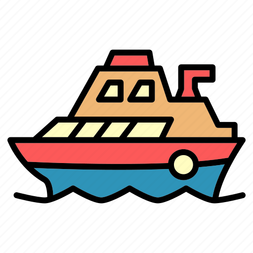 boat, delivery, public, sail, ship, transport, vehical icon