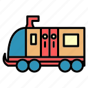 delivery, machinist, public, train, transport, vehical icon