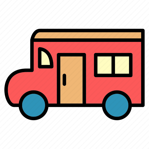 bus, bus way, delivery, public, trans, transport, vehical icon