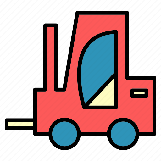 delivery, engine, forklift, machine, public, transport, vehical icon