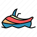boots, delivery, jetsky, public, transport, traveling, vehical icon