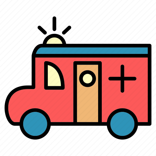 accident, ambulance, delivery, hospital, public, transport, vehical icon