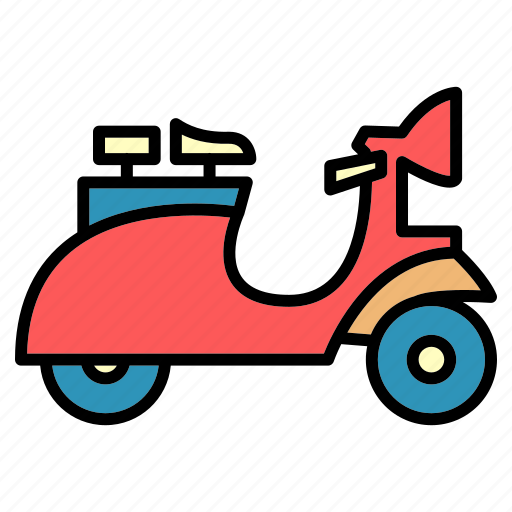 delivery, motorcycle, public, scooter, transport, vehical, vespa icon