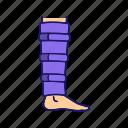 ankle, bandage, calf support, injury, leg, shin brace, trauma