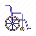 chair, disability, disabled, handicap, handicapped, wheel, wheelchair icon