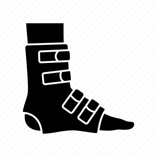 Ankle, feet, foot, injury, joint bandage, leg, trauma icon - Download on Iconfinder