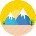 hill station, hills, landscape, mountains, rocks icon