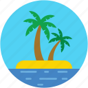 beach, coconut tree, date tree, palm, palm tree icon
