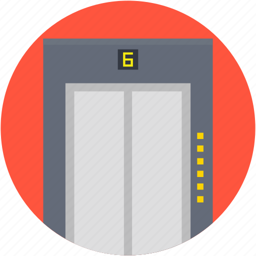 electric elevator, elevator, elevator lift, hotel lift, vertical transport icon