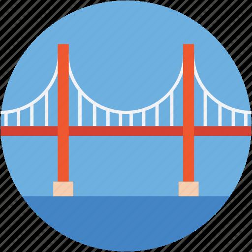 bridge, landmark, monument, thomas bridge, travel icon