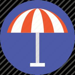 beach umbrella, canopy, parasol, sunshade, umbrella icon
