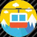 aerial lift, chairlift, detachable, ropeway, ski lift