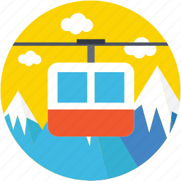aerial lift, chairlift, detachable, ropeway, ski lift icon