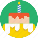 bakery, birthday cake, cake, food, sweet food icon