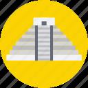 famous places, landmark, maya pyramid, mexico, monument