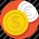 currency, dollar, euro, finance, money
