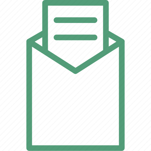 email, envelop, inbox, letter, mail, office icon