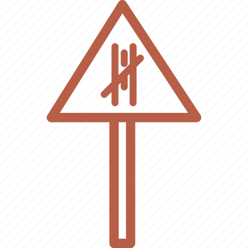 outdoors, road, road block, sign, travel, vacation icon