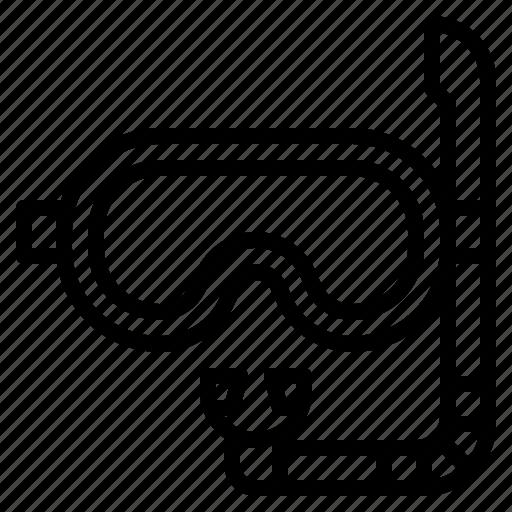 glasses, goggles, mask, scuba icon