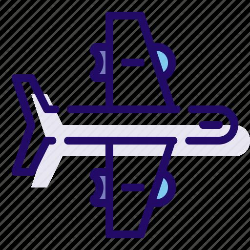 airplane, transportation, travel, vehicle icon