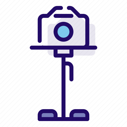 camera, device, photography, stand icon