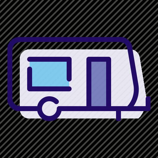 camp, camping, caravan icon