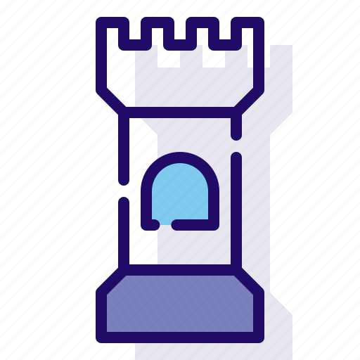 building, castle, tower icon