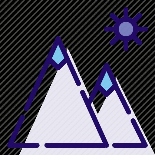daylight, mountain, sunny icon