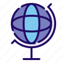 globe, international, location icon