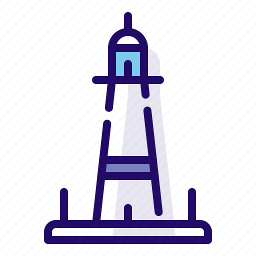 lighthouse, navigation, tower icon
