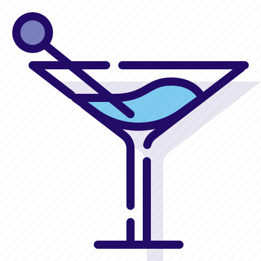 beverage, drink, martini icon