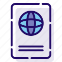 id, identification, passport icon