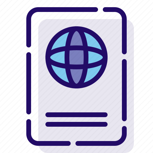 id, identification, passport icon