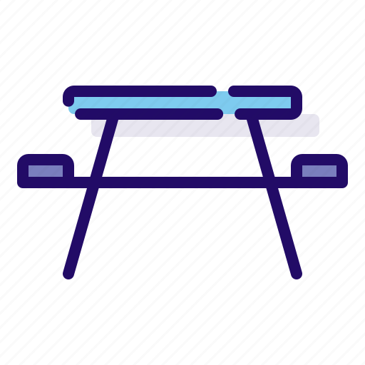 Table, picnic, camping icon