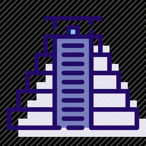 monument, pyramid, world icon