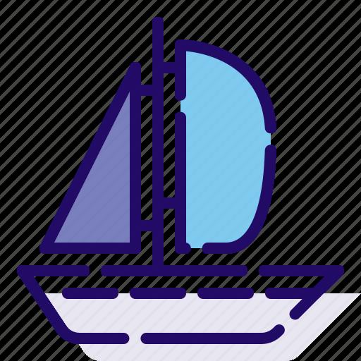 boat, sail, transportation icon