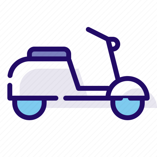 scooter, transportation, vehicle icon