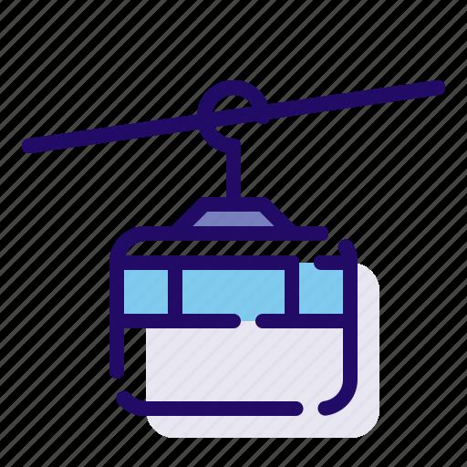 lift, ski, transport icon