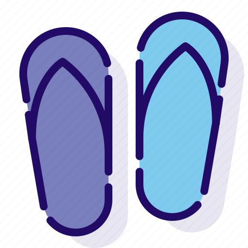 flip flops, shoes, slippers icon