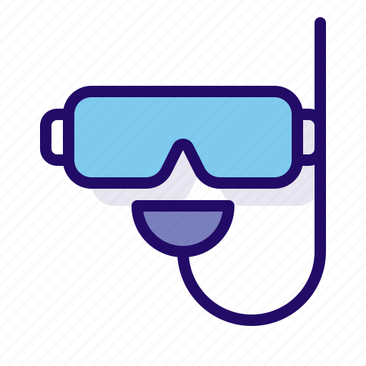 snorkle, sport, water icon