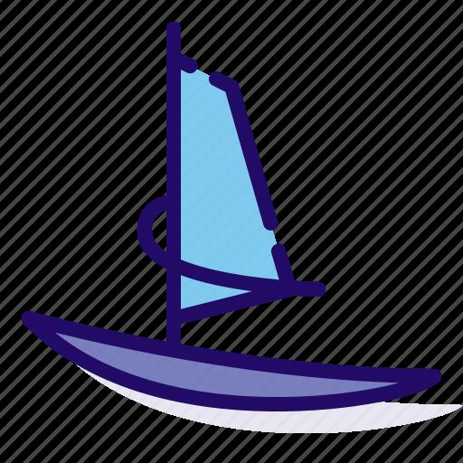 sport, surf, surfing, wind icon