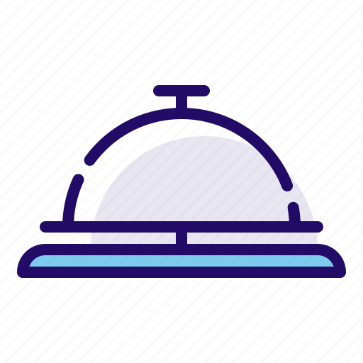 bell, desk, front office, reception icon